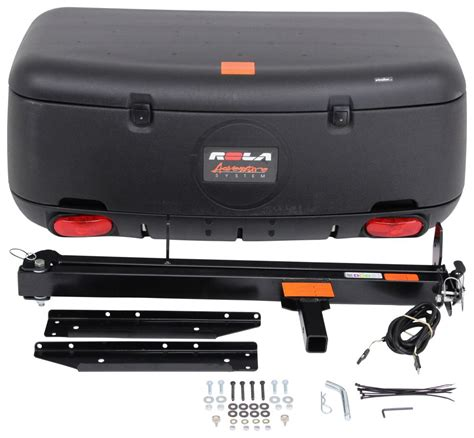 rola swinging enclosed cargo carrier for 2 trailer hitch gmc acadia rola swinging enclosed cargo carrier for 2