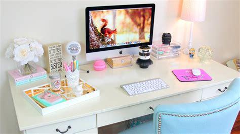 Organize Work Desk Desk Tour Office Tour