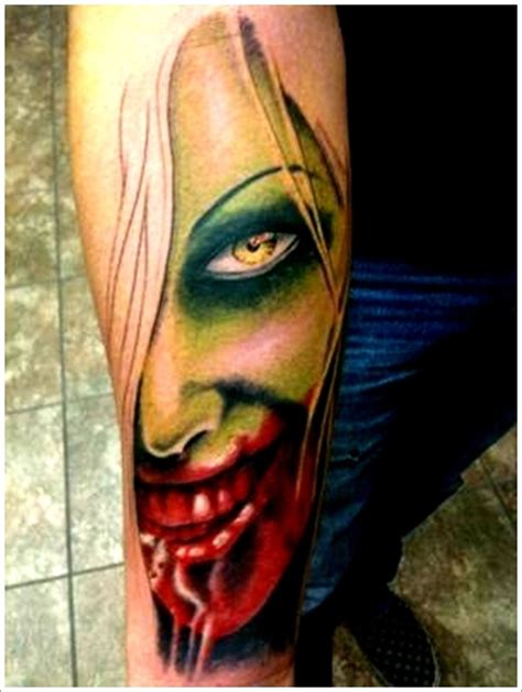 tattoo ideas zombie 40 styles that scare to