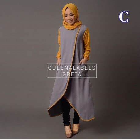 Baju Muslim Wanita Greta greta c baju muslim gamis modern