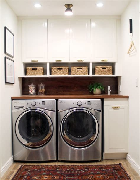 Beautifully Organized Small Laundry Rooms The Happy Housie Built In Wall Laundry