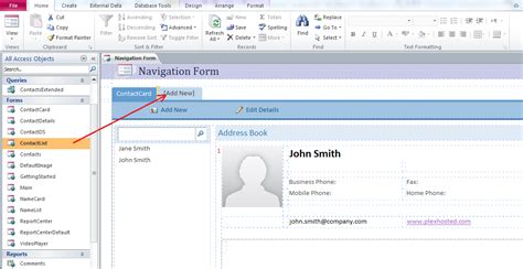 form design tools access 2010 how to create a new navigation form in access 2010 and set