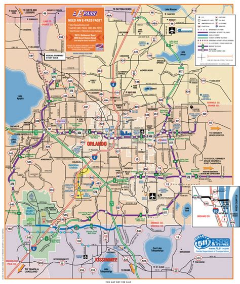 printable orlando area map orlando map pdf my blog