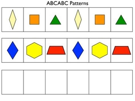 abc pattern using shapes 17 best images about pattern blocks on pinterest math