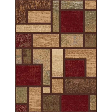 lowes rugs 5x8 shop tayse festival rectangular indoor machine made area rug common 5 x 7 actual 5 25 ft w x