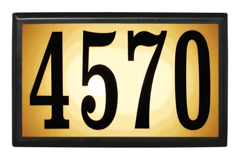 Address Wall Plaques Free Shipping - baymont estate lighted address plaque with 6 quot numbers