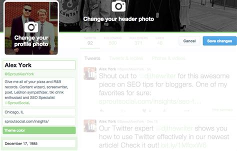 bio exles for twitter how to start a twitter for business account sprout social