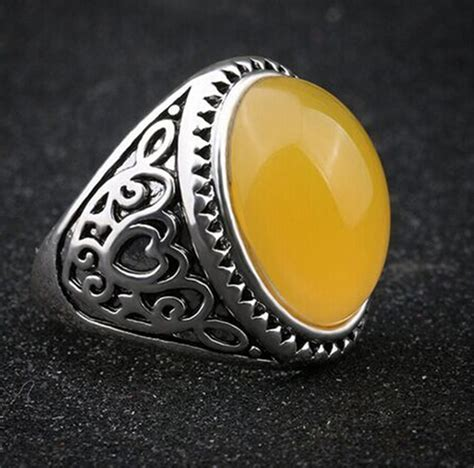 red stone rings shop for red stone rings on polyvore 2016 vintage yellow stone rings men hot selling tibetan