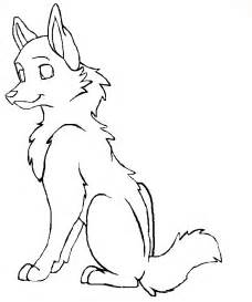 Wolf Sitting Outline by Wolf Outline Drawing Az Coloring Pages