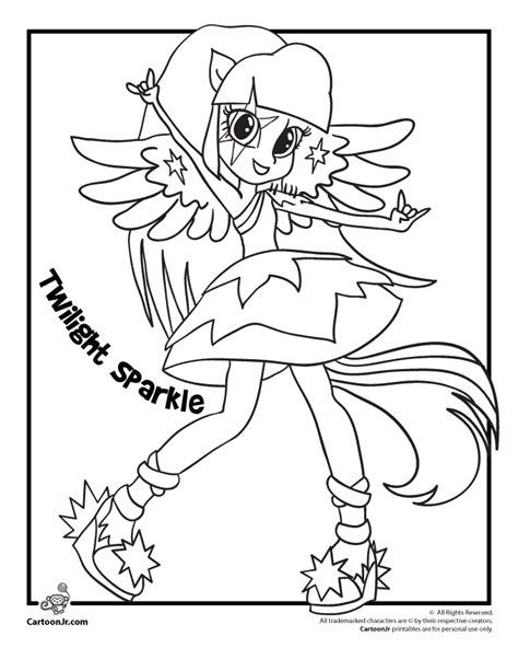 pony equestria girl twilight sparkle coloring pages
