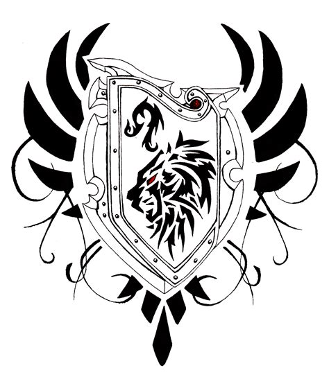 shield tattoo designs custom leo shield design by waruijanai on deviantart