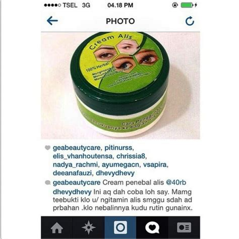 gea beauty cream penebal penumbuh alis mata aman alami