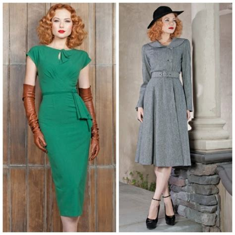 vintage dresses from the different decades of the 20th