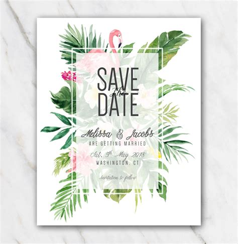 save the date powerpoint template save the date wedding save the date template tropical themed flowers