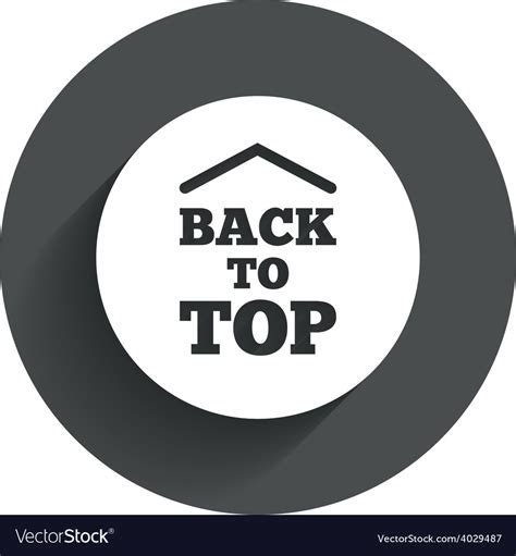 back to top back to top arrow sign icon scroll up symbol vector image