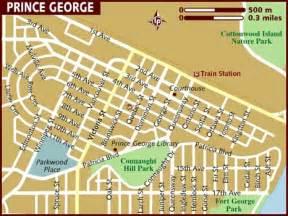 prince george canada map prince george canada