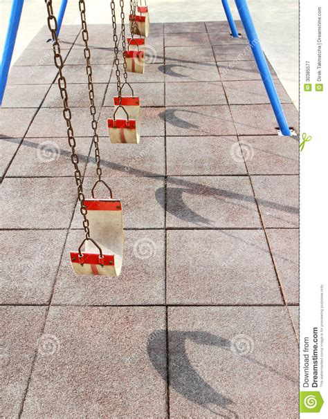 swing row empty swing set royalty free stock photography image