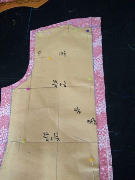 Kristik Pola Pada Kain 40164 cara lukis pola potong kain baju kurung moden longgar