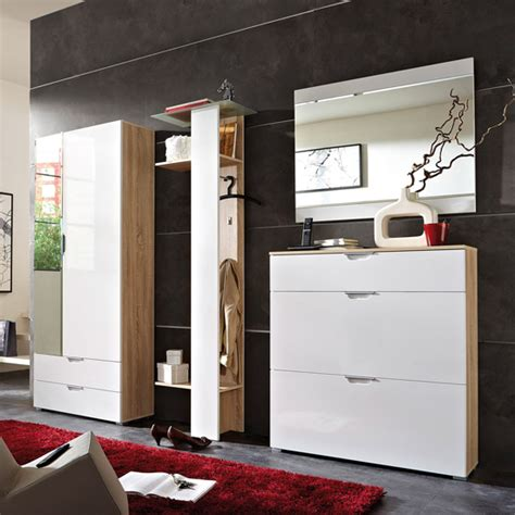 Eva Contemporary Hallway Furniture in Gloss White Canadian