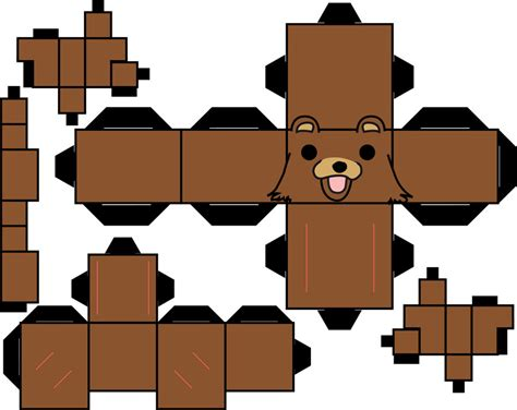 4chan Papercraft - pedobear by straffehond on deviantart