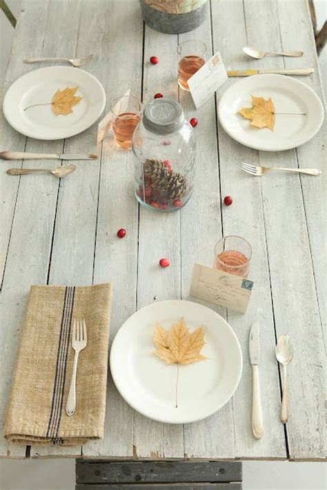 simple table setting 21 fall table design arrangements for every occasion