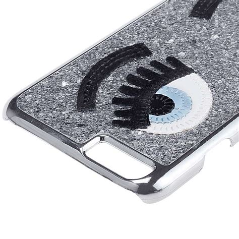 Aksesoris Handphone Iphone 6 4 7 3d Silver Tempered Gla fashion 3d sequins decorated wink pattern protective back for iphone 6 4 7 quot silver