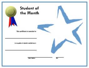 student of the month award freeology