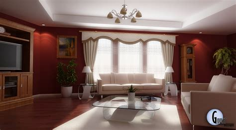living room design idea 28 red and white living rooms