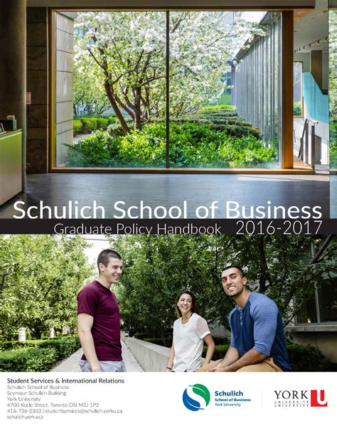 Mba Schulich Course Offerings by Get To Your Academic Handbooks The Marketplace