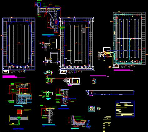 semi olympic pool dwg section  autocad designs cad