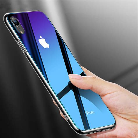 cafele gradient tempered glass protective for iphone x xr xs xs max scratch resistant back