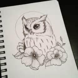 doodle owls doodle dessin owl hibou chouette bird flowers