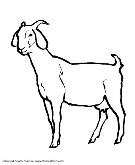 goat mask coloring pages