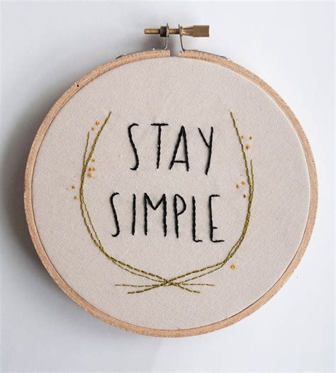 Stay Simple stay simple embroidered wall home decor lighting kitsch and stitch scoutmob