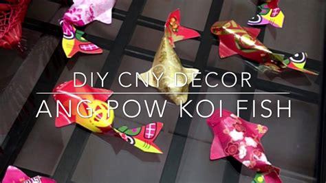 diy chinese  year decor  ang pow koi fish