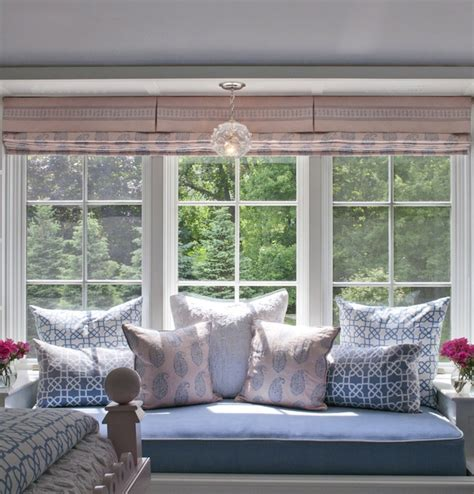 window seat bedroom ideas blue and pink girl s room transitional girl s room