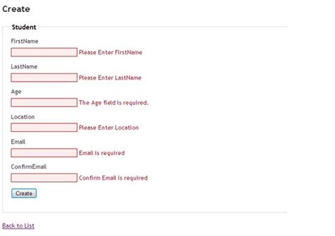 email format validation mvc using the confirm attribute in mvc 3 effectively