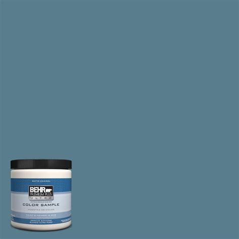 behr premium plus ultra 1 gal ul230 5 forever denim interior satin enamel paint 775401 the