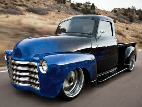 1951 chevy custom paint with blue flames 53