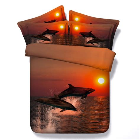 Bedcover 3d 3 In 1 180x200cm Femina 1 Set dolphin comforter set duvet cover 3d bedding sets sheets bedspread bed covers and comforters