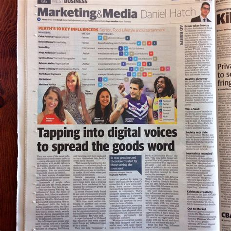 the australian business section our second year in business