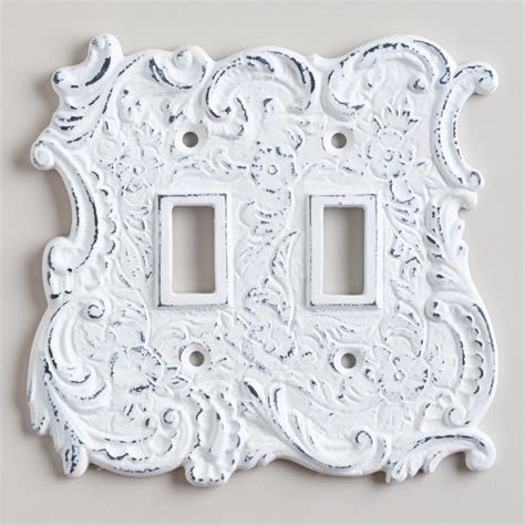 wall switch plate covers decorative white cast iron switch plate world market