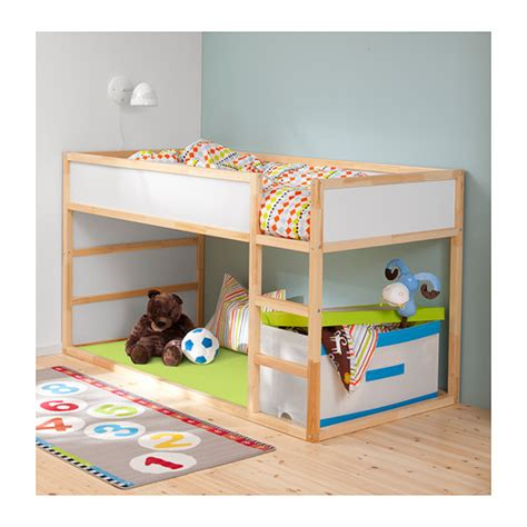 bunk beds for kids ikea ikea kura reversible bed white pine size twin