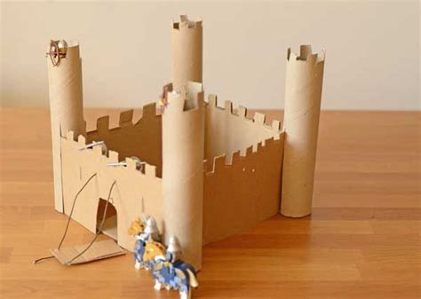 How To Make A Paper Castle Easy - 25 best ideas about cardboard castle on