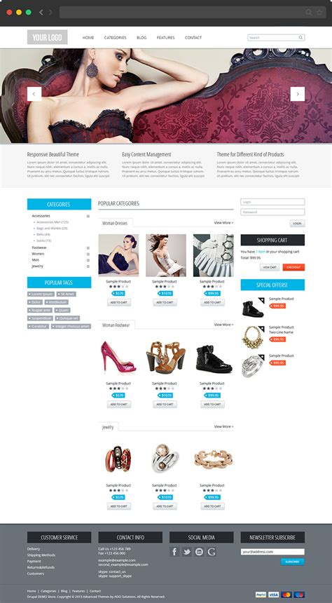 drupal theme at commerce 20 best and free responsive drupal themes web hosting