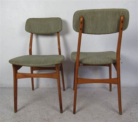 Teak Dining Chairs Upholstered Set Of Six Mid Century Upholstered Teak Dining Chairs For Sale At 1stdibs