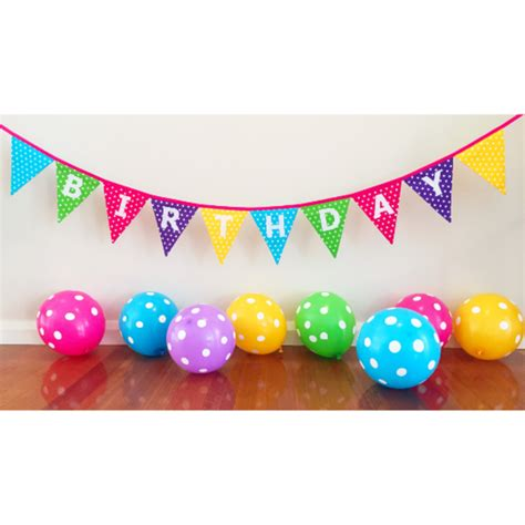 Bunting Flag Hbd polka dot happy birthday bunting banner flags