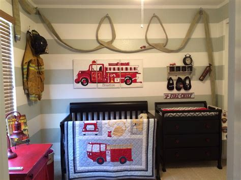 firefighter baby room themes firefighter nursery with hose baby stuff