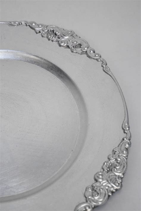 silver plate chargers bulk vintage silver charger plates 12 pack emporium