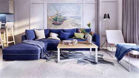 royal blue furniture royal blue sofa interior design ideas